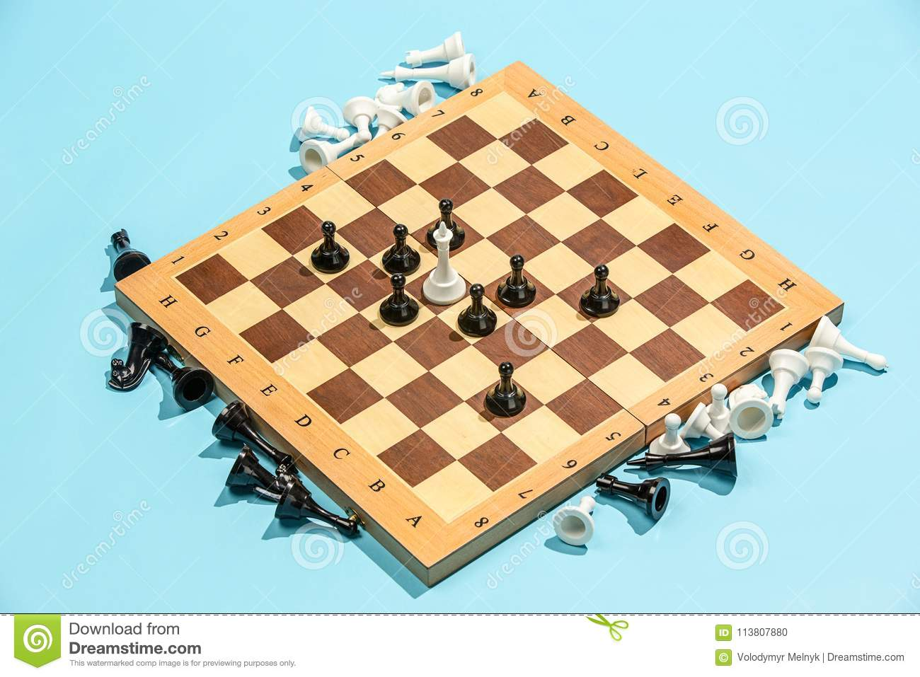 The Chess Board And Game Concept Of Business Ideas And Competition ...