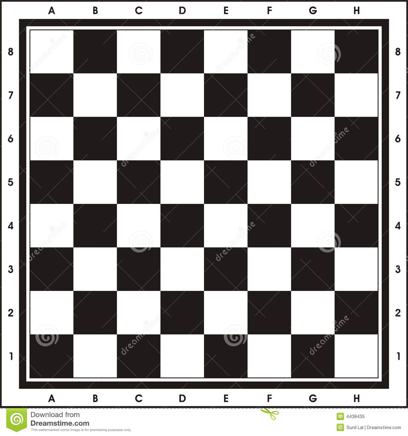 image relating to Chess Board Printable named Chess Board - Print Engage in inventory case in point. Instance
