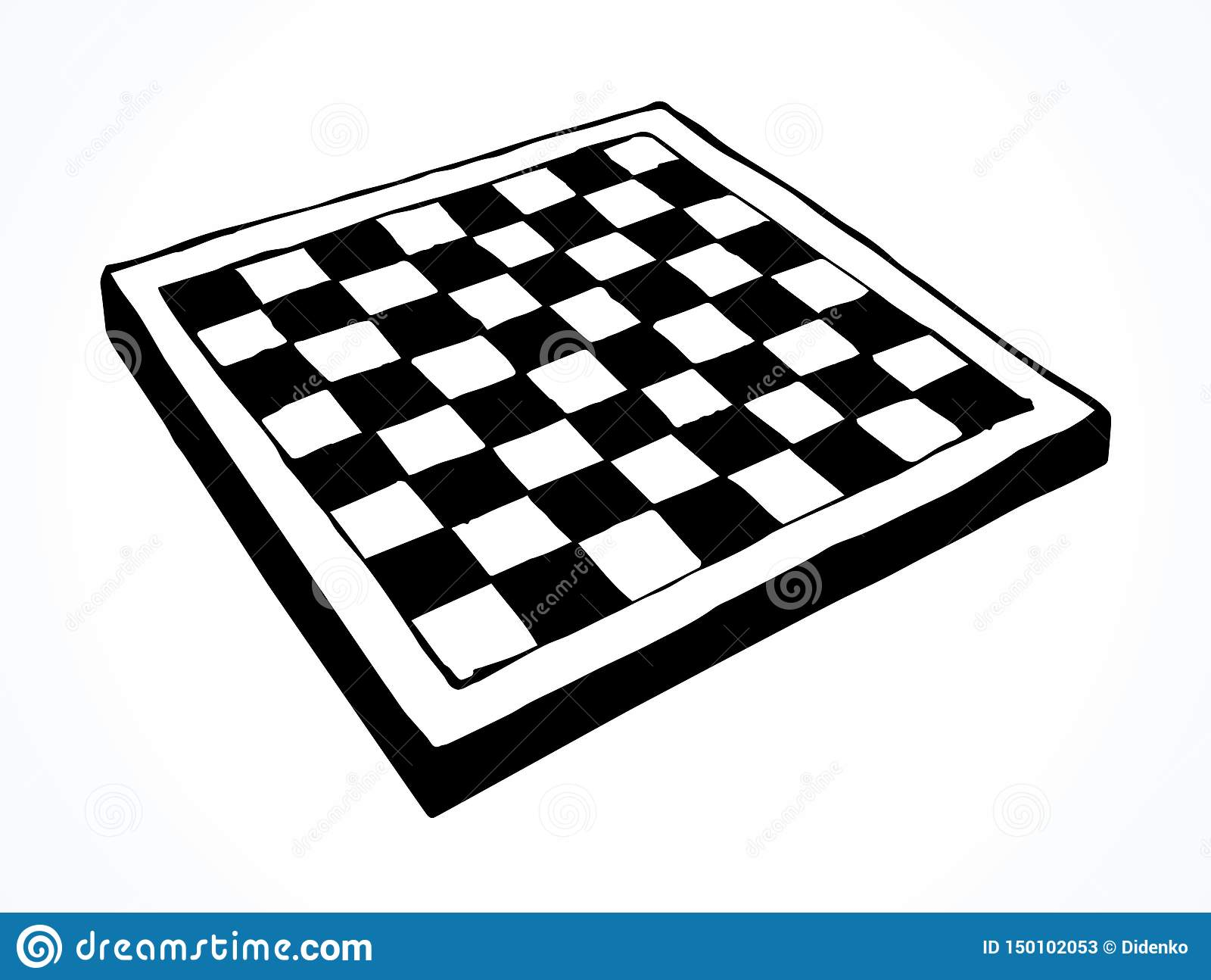 Chess Board Vector Drawing Stock Vector Illustration Of