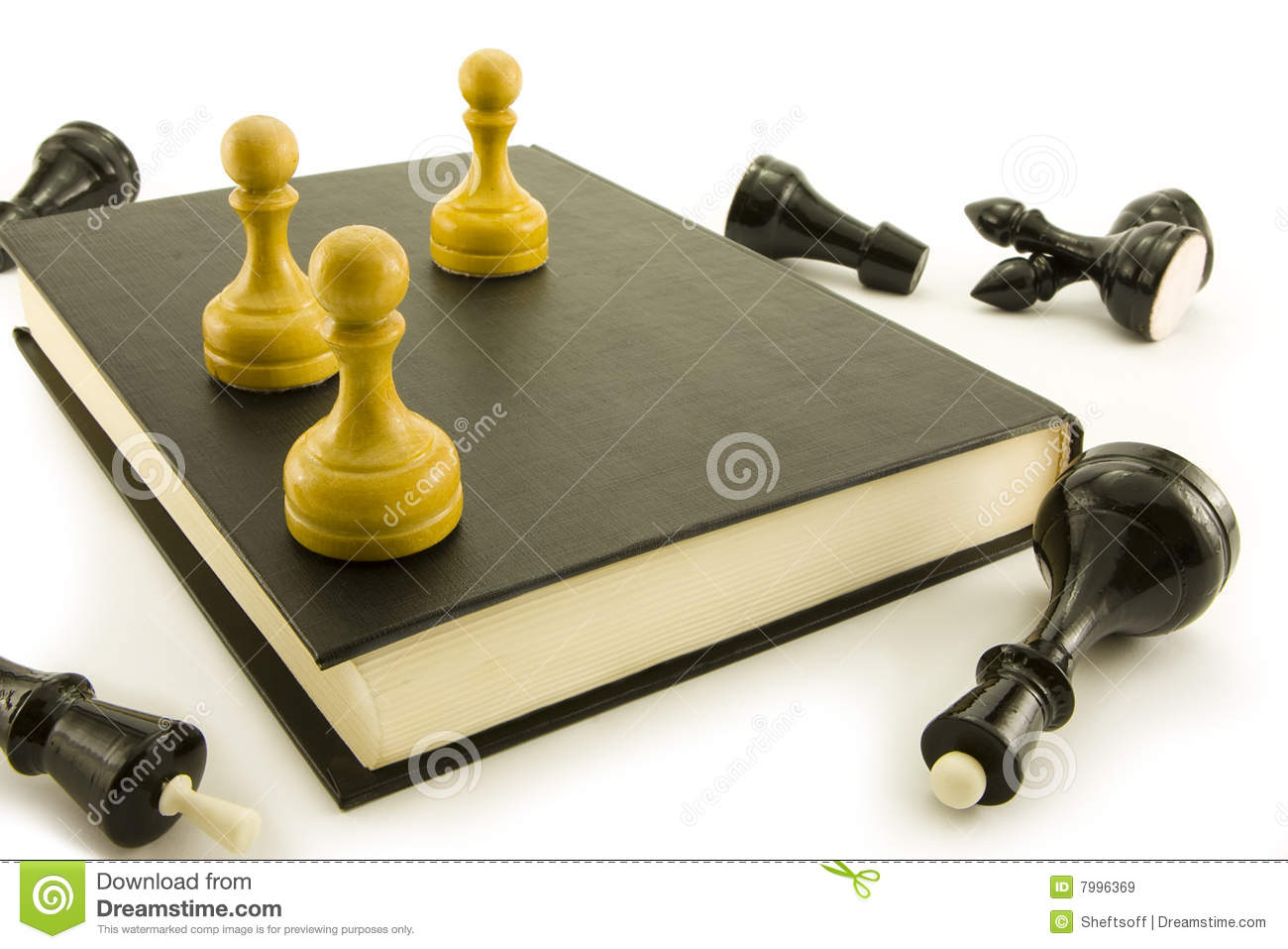 Chess And Book Stock Image Image Of Team Background 7996369