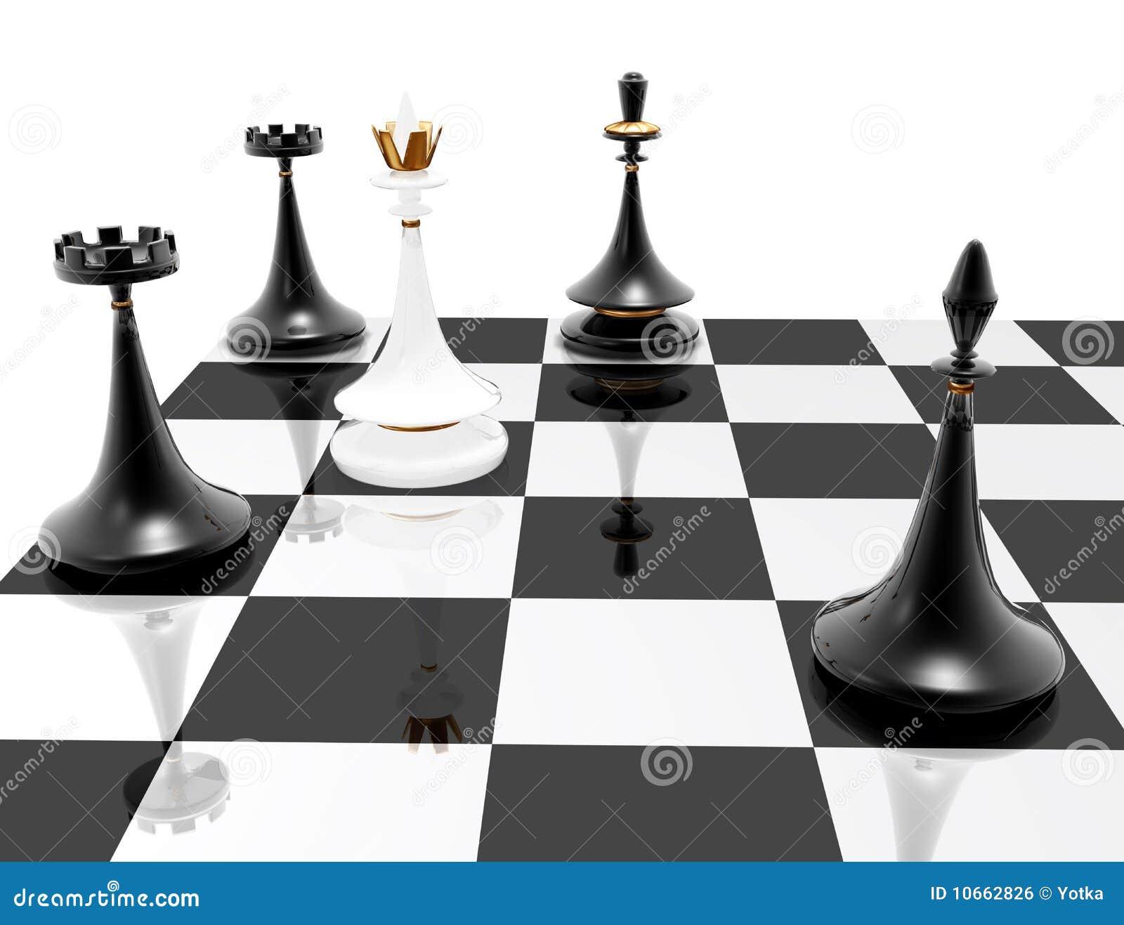 Chess Checkmate Stock Illustration Illustration Of