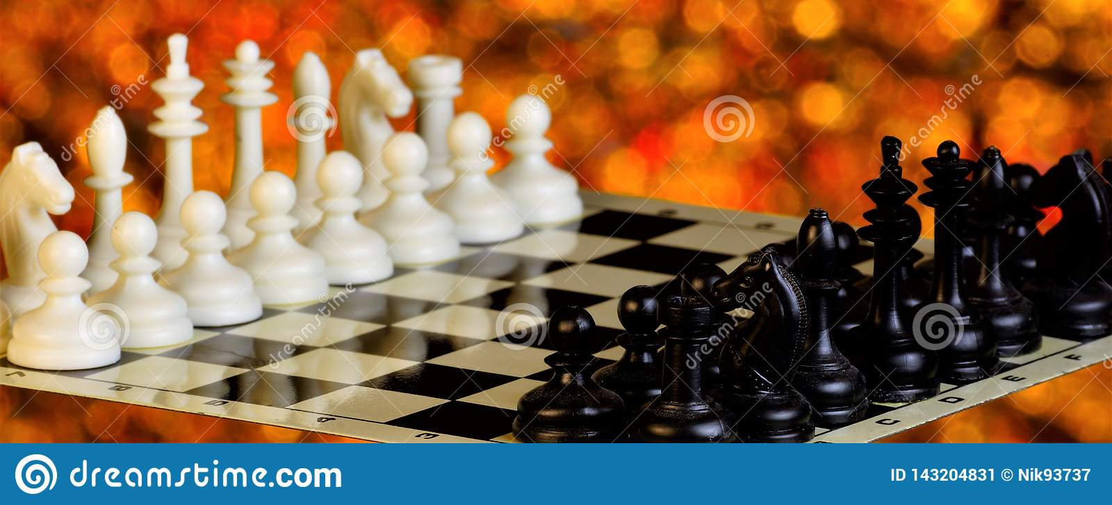 Chess on the chessboard, competition and winning strategy. Chess is a popular ancient Board logic antagonistic game with special