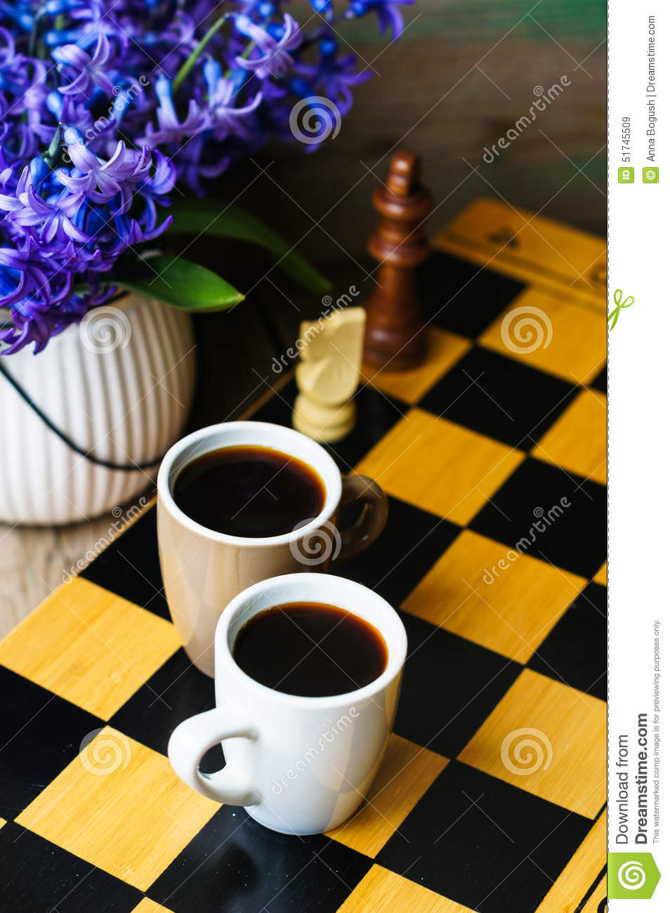 Chess And Coffee Royalty Free Stock Image Cartoondealer