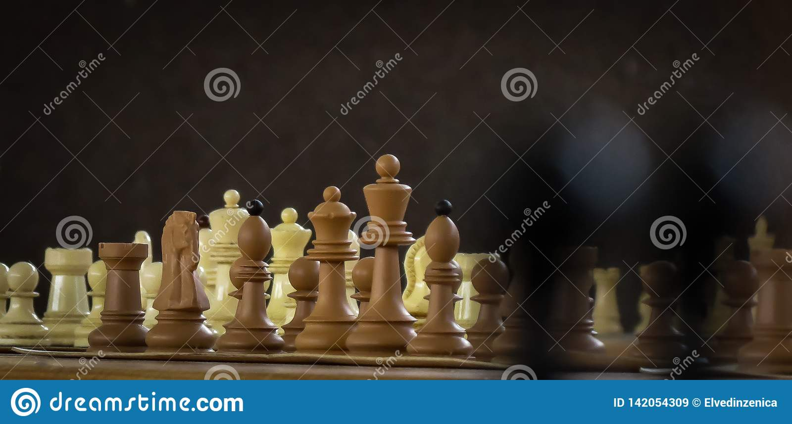 Chess figures set for challenge and match