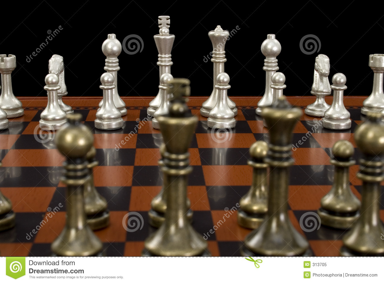 Chess game with focus on light pieces royalty free stock - Chess nice image ...