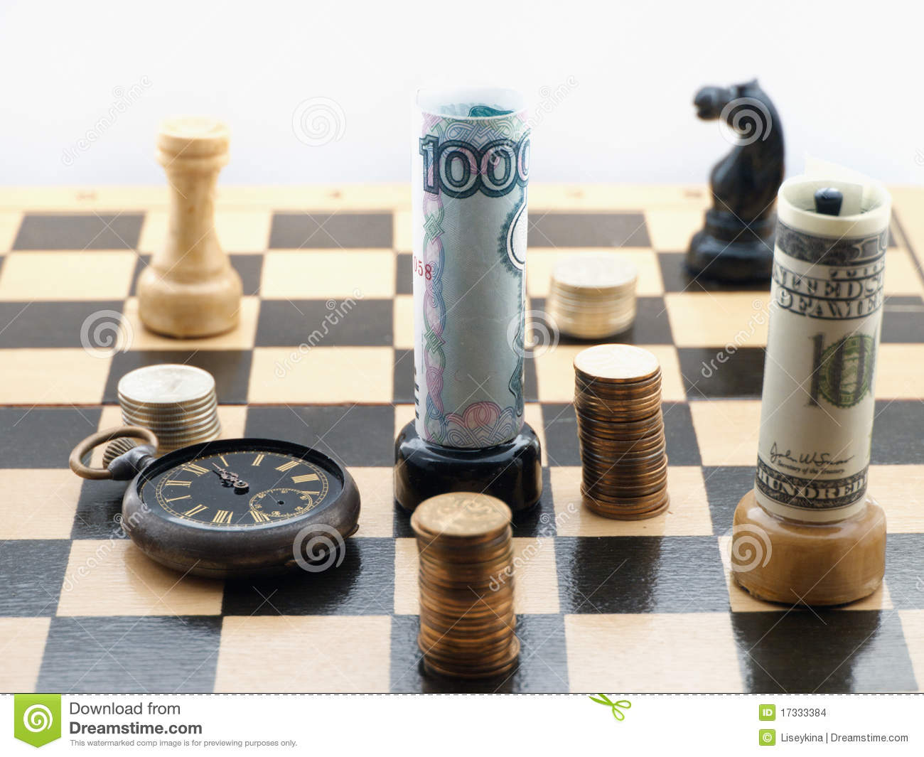 Chess game with money