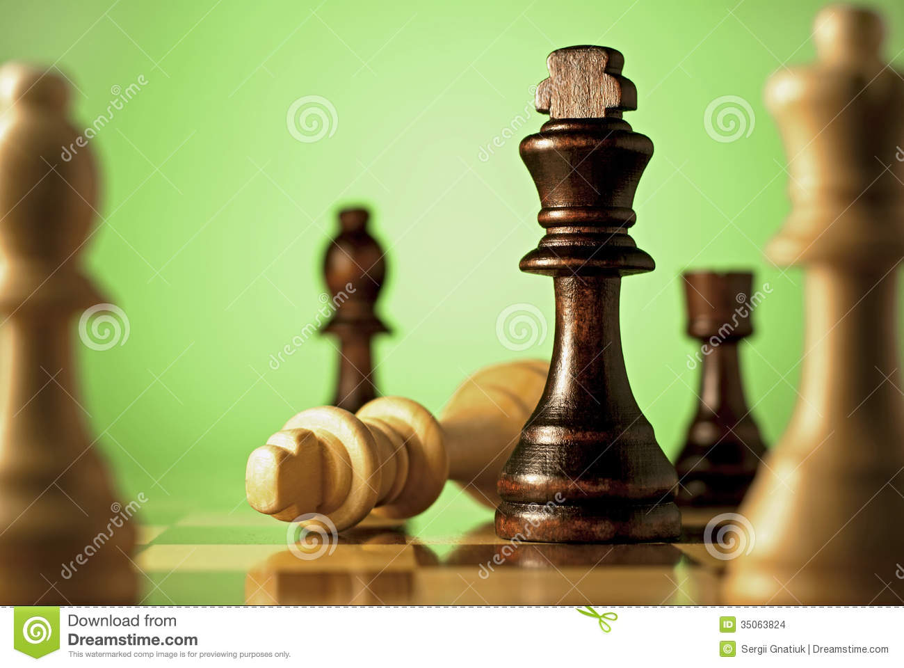 Chess A Game Of Skill And Planning Stock Images Image