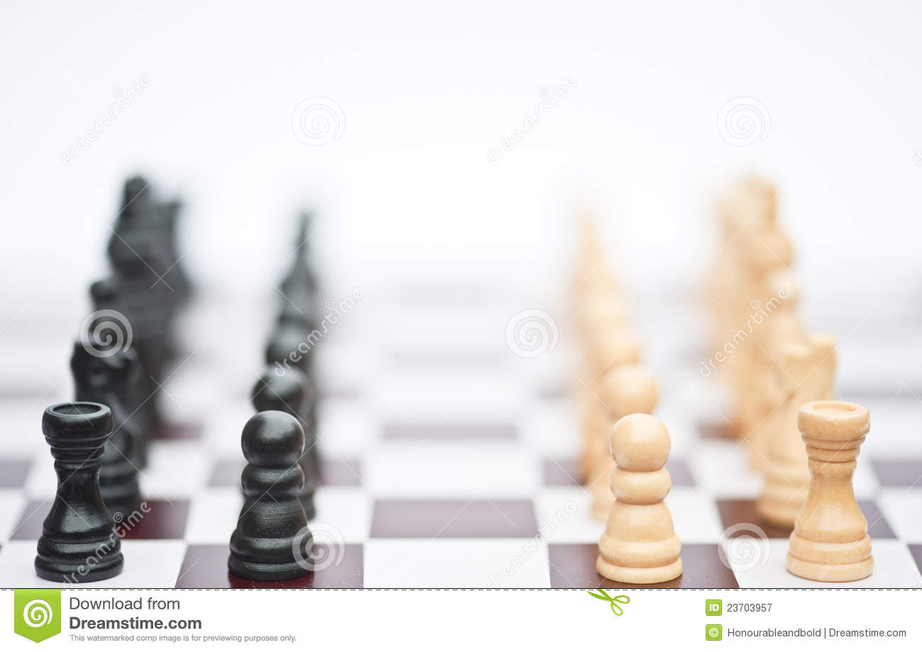 chess game of strategy business concept stock image