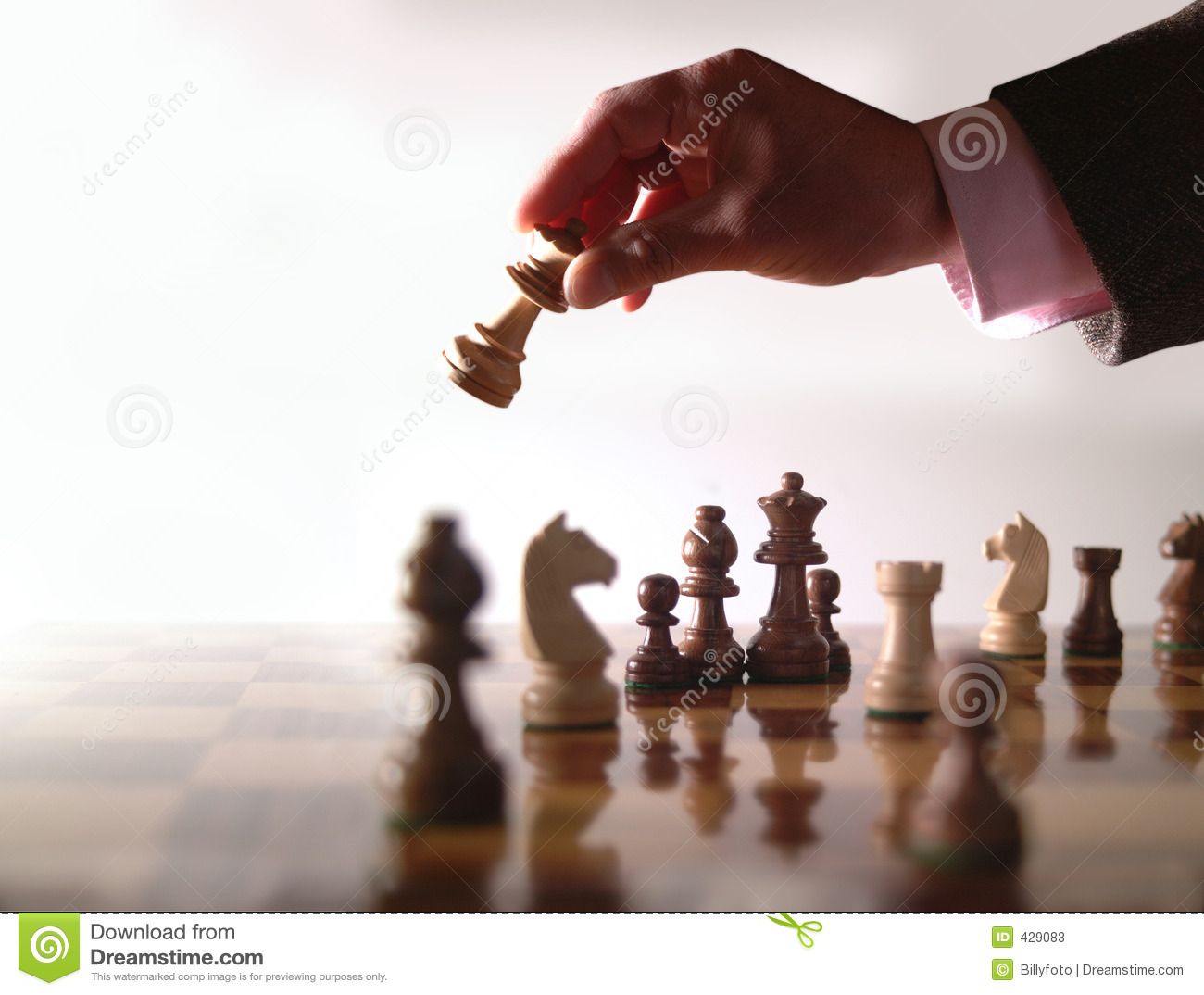 Chess And Hand Stock Image Image Of Game Wood Thinking