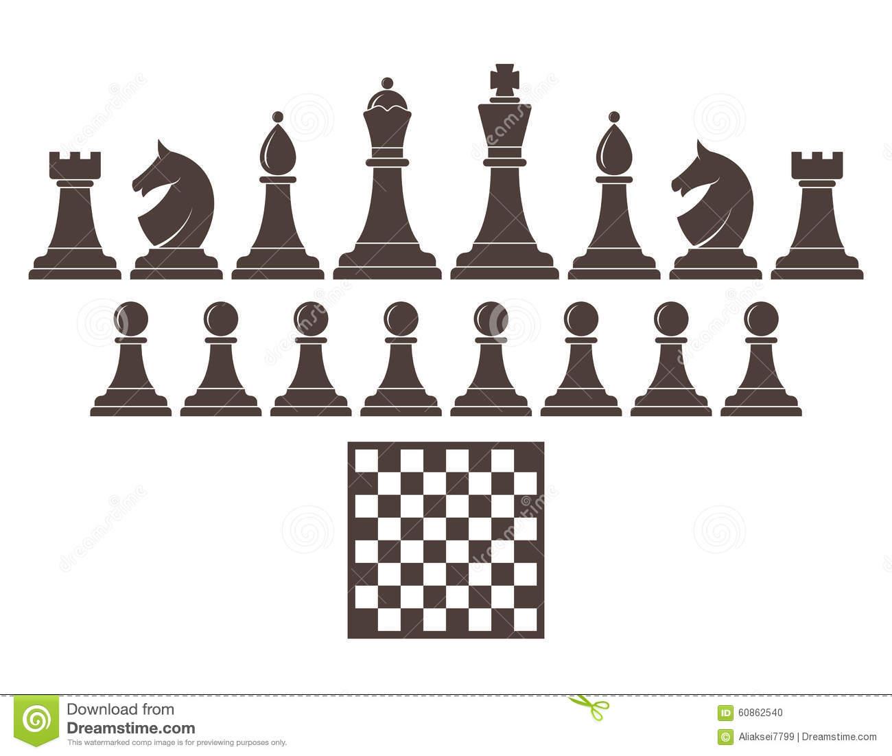 Chess. Icon set stock vector. Image of competition, horse ...
