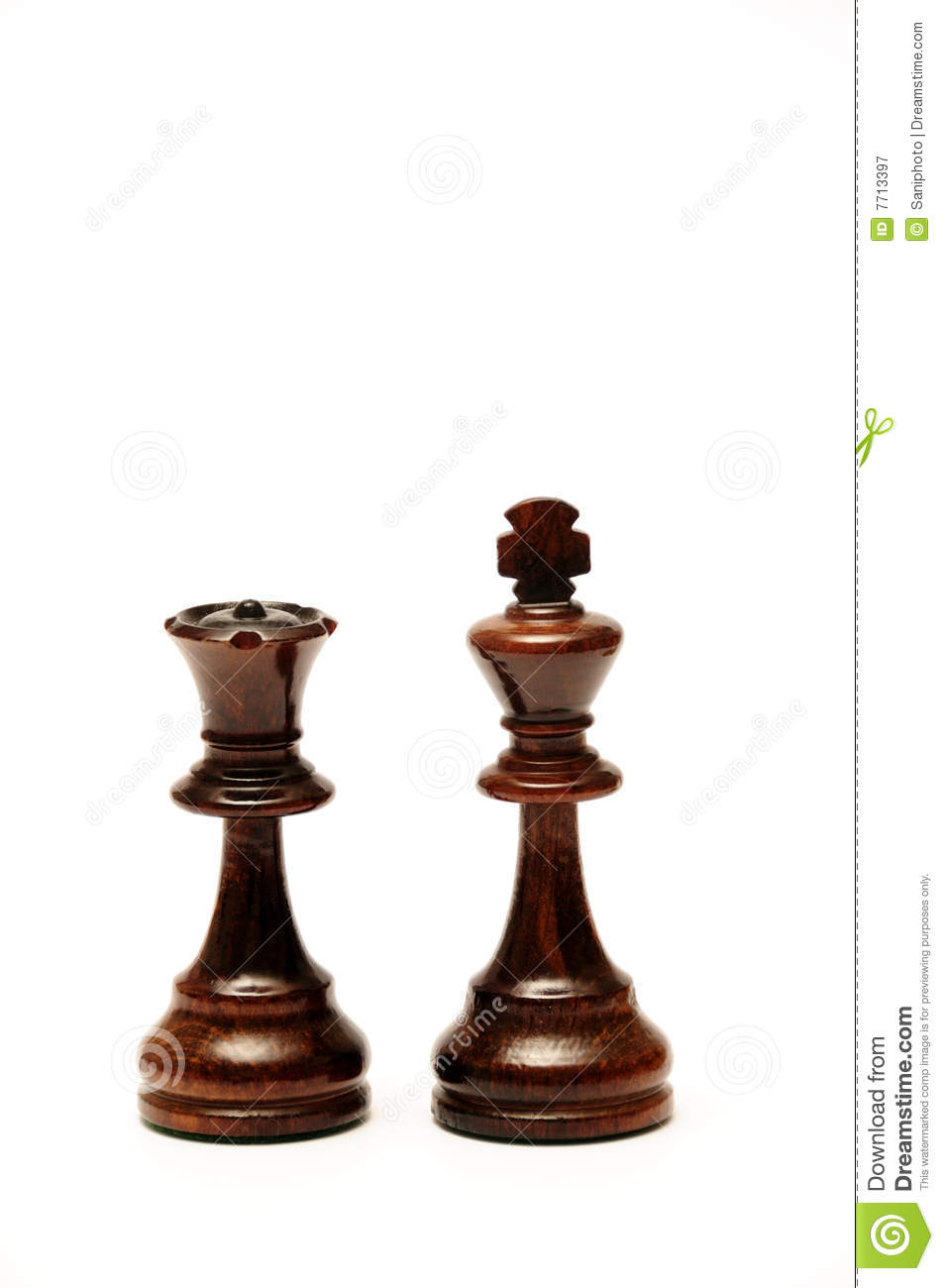 Chess King And Queen Royalty Free Stock Photography ...