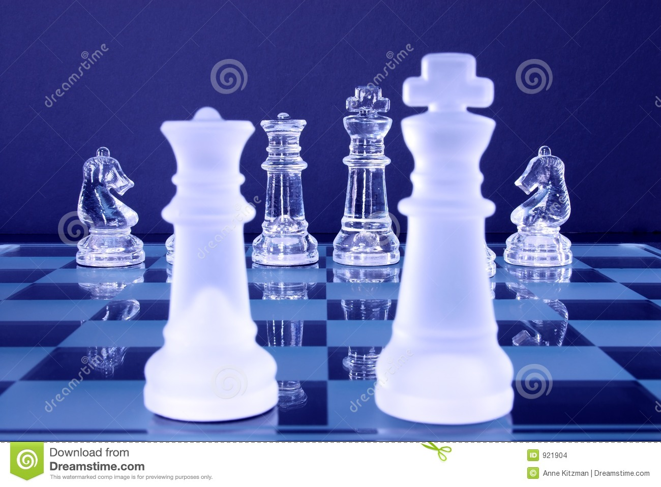 Chess King Queen Knights stock photo. Image of foreward ...