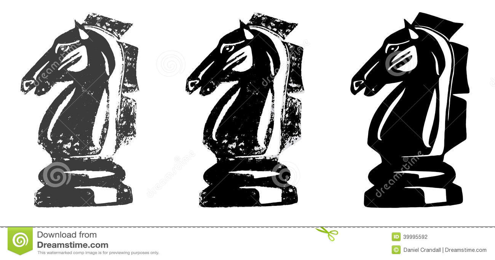 Chess Knight Horse Stock Illustration Illustration Of Grunge 39995592