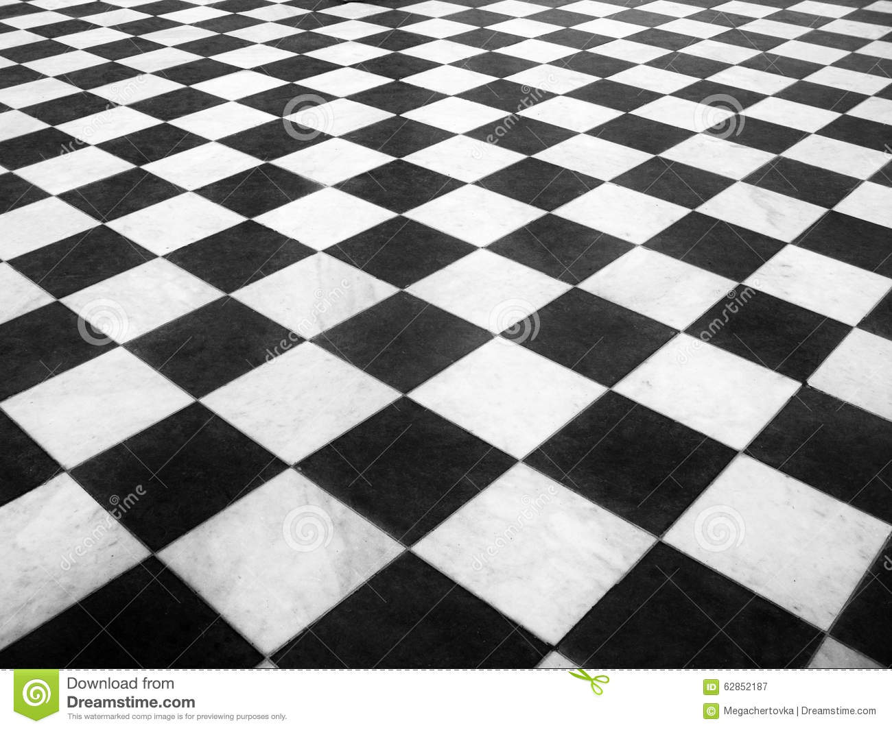 Chess Marble Floor Stock Photo Image 62852187