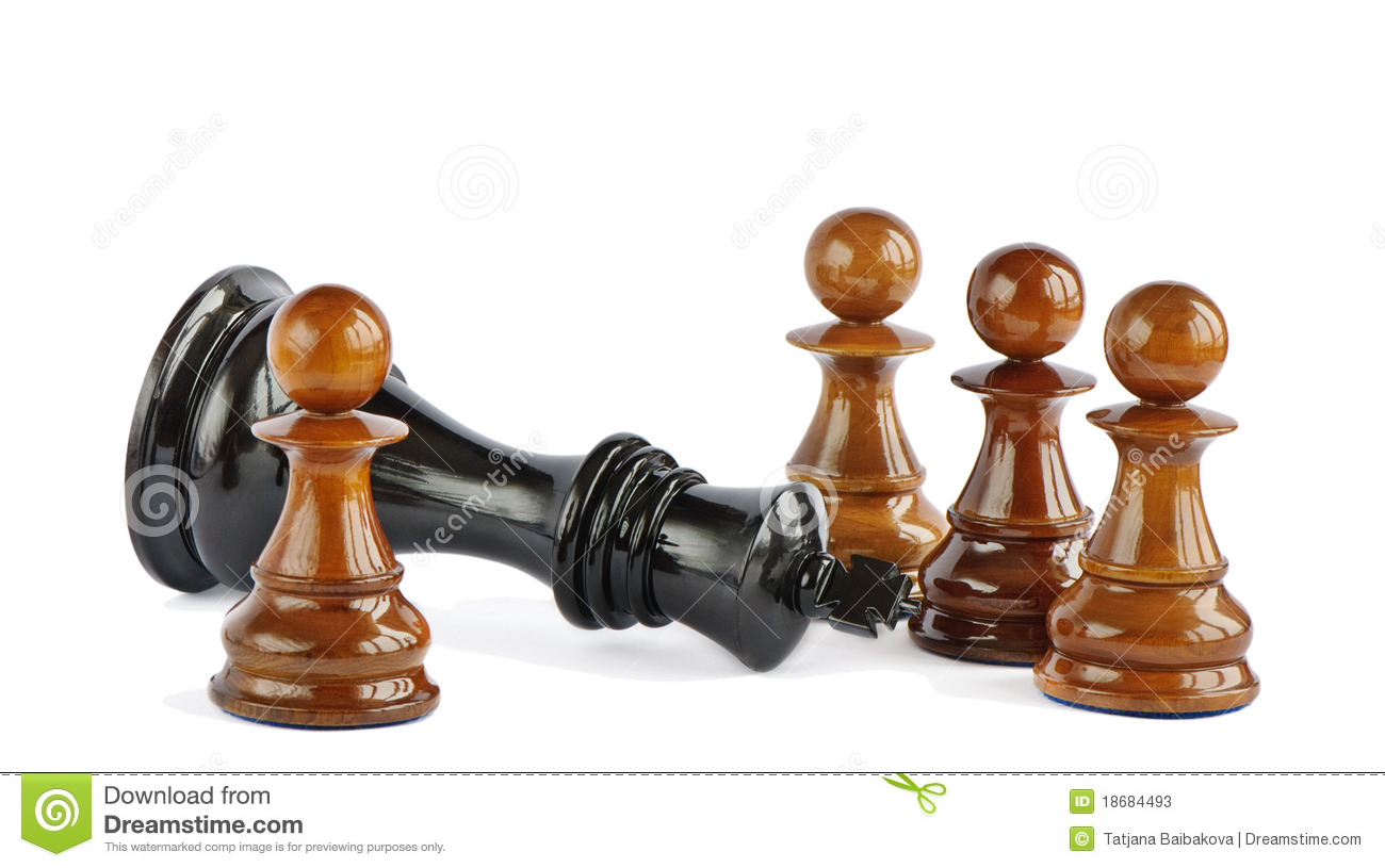 Chess Pawn And King Stock Photos - Image: 18684493