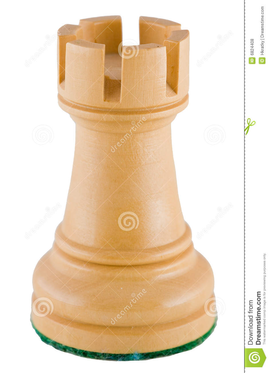 Chess piece - white rook stock photo. Image of defense - 6824408