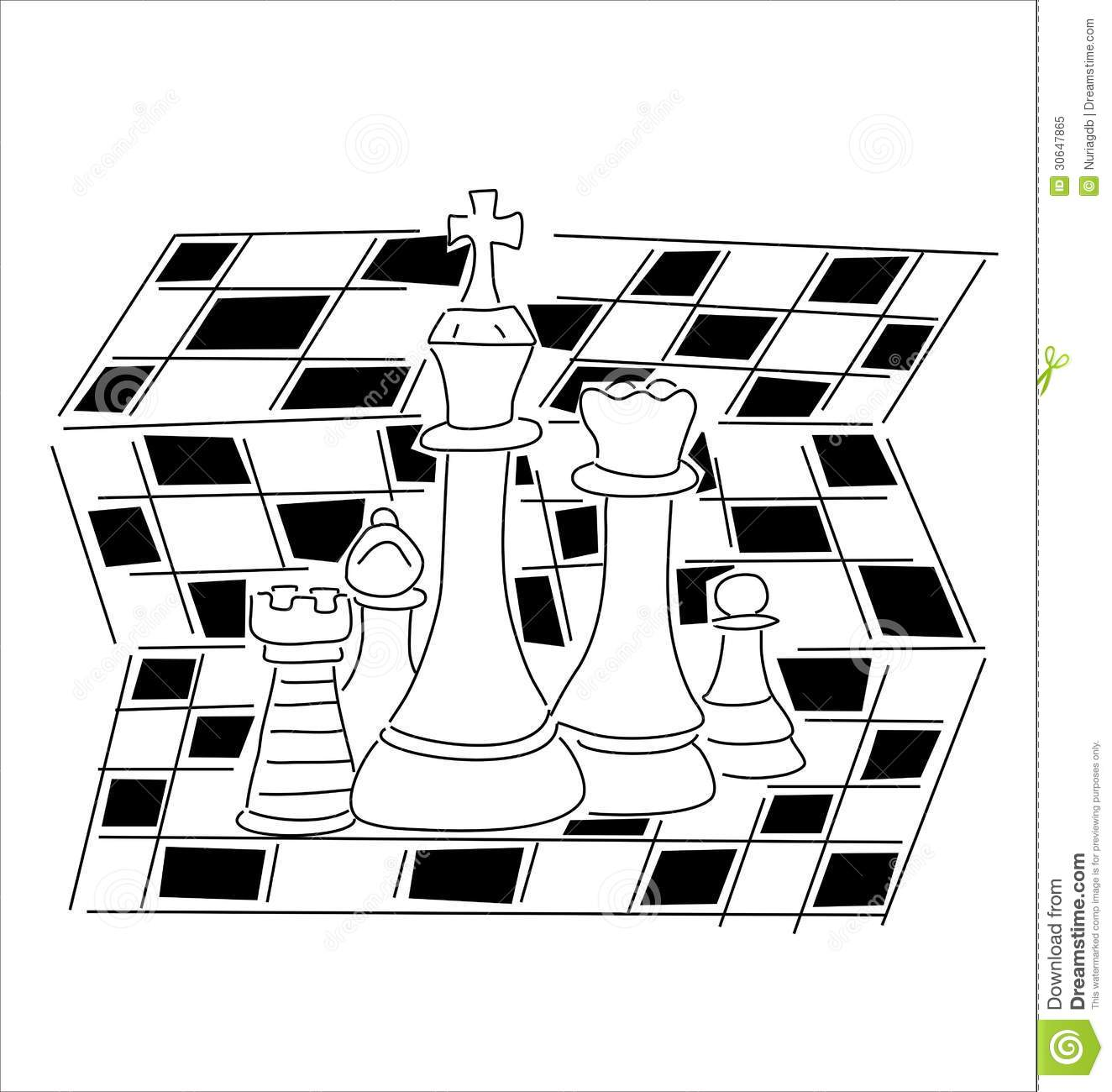 Royalty Free Stock Photo Chess Pieces Black White Board Image30647865 on chess vector graphics