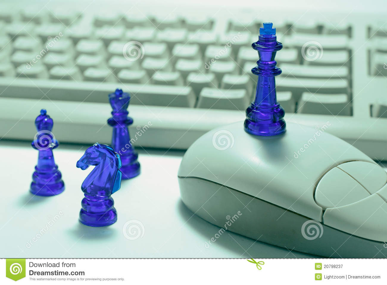Chess Pieces and Computer