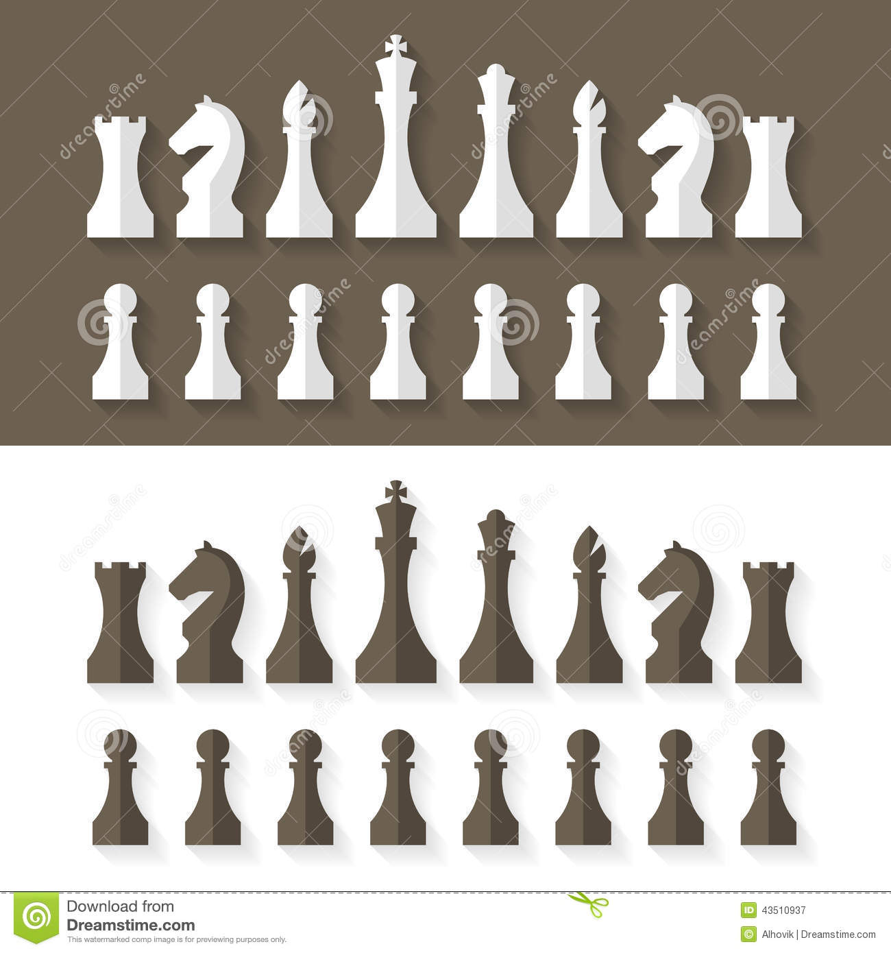 chess pieces flat design style stock vector image 43510937. Black Bedroom Furniture Sets. Home Design Ideas