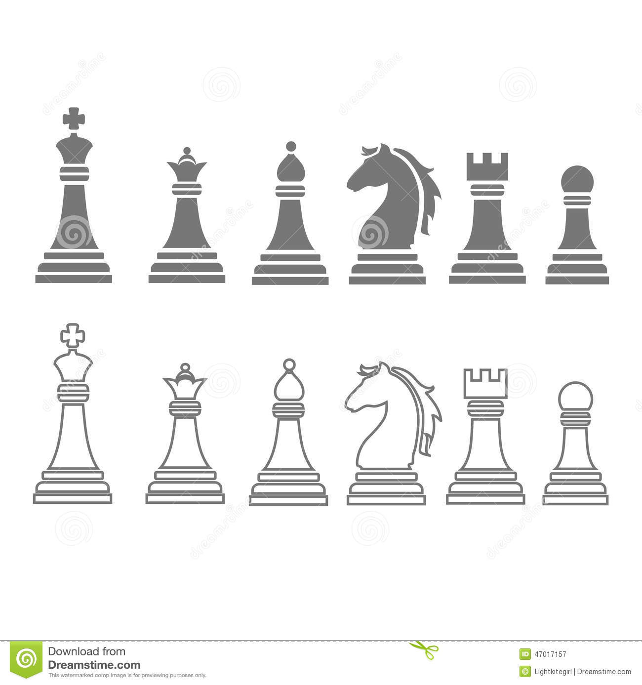 chess pieces including king queen rook pawn. Black Bedroom Furniture Sets. Home Design Ideas