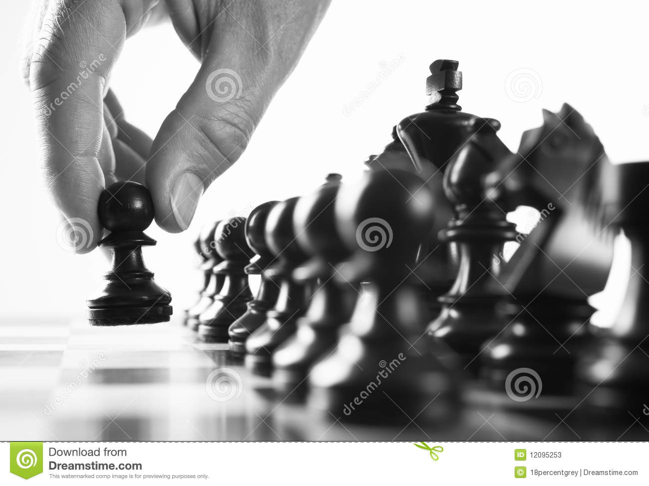 chess player first move stock photos
