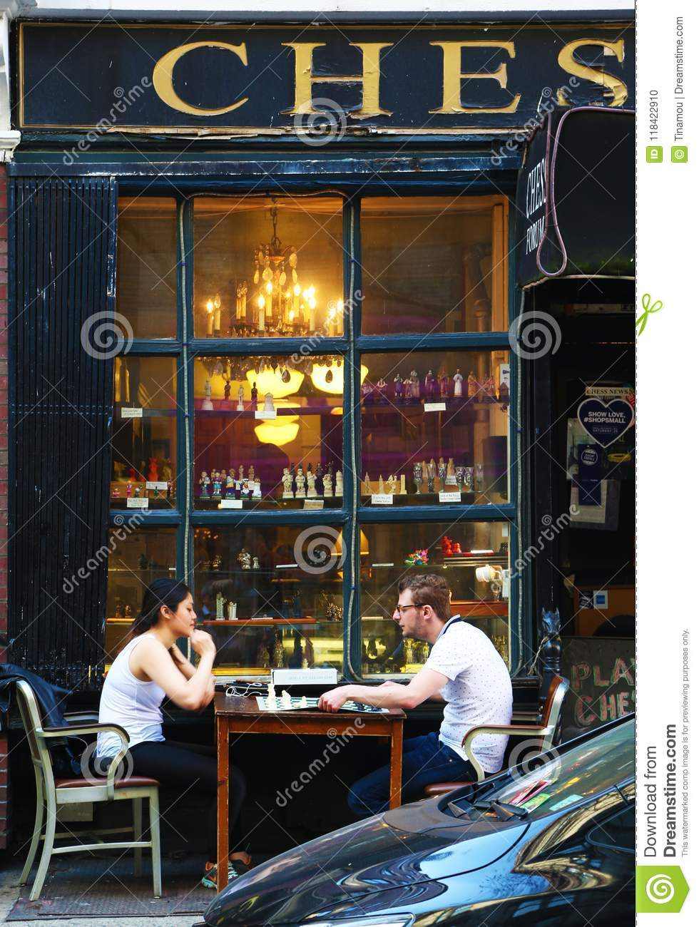 Chess Players Outdoor In Greenwich Village Editorial Image