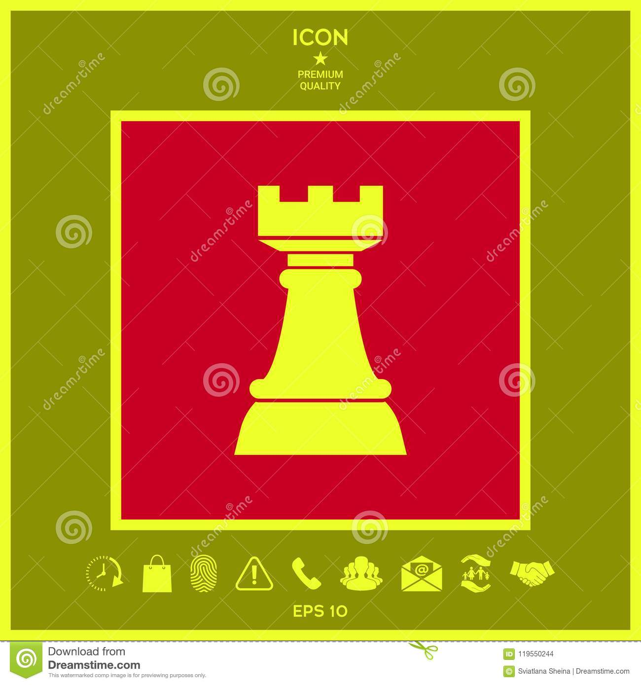 Chess Rook Strategy Icon Stock Vector Illustration Of Element