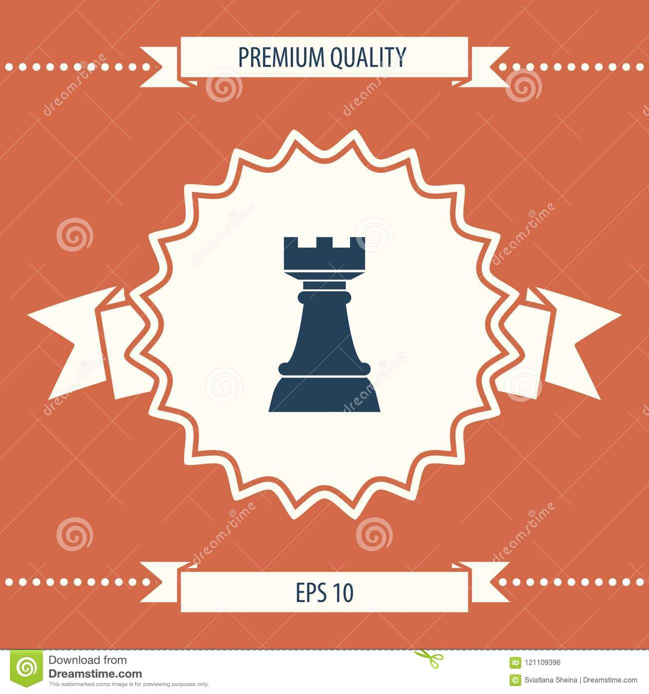 Chess Rook Strategy Icon Stock Vector Illustration Of