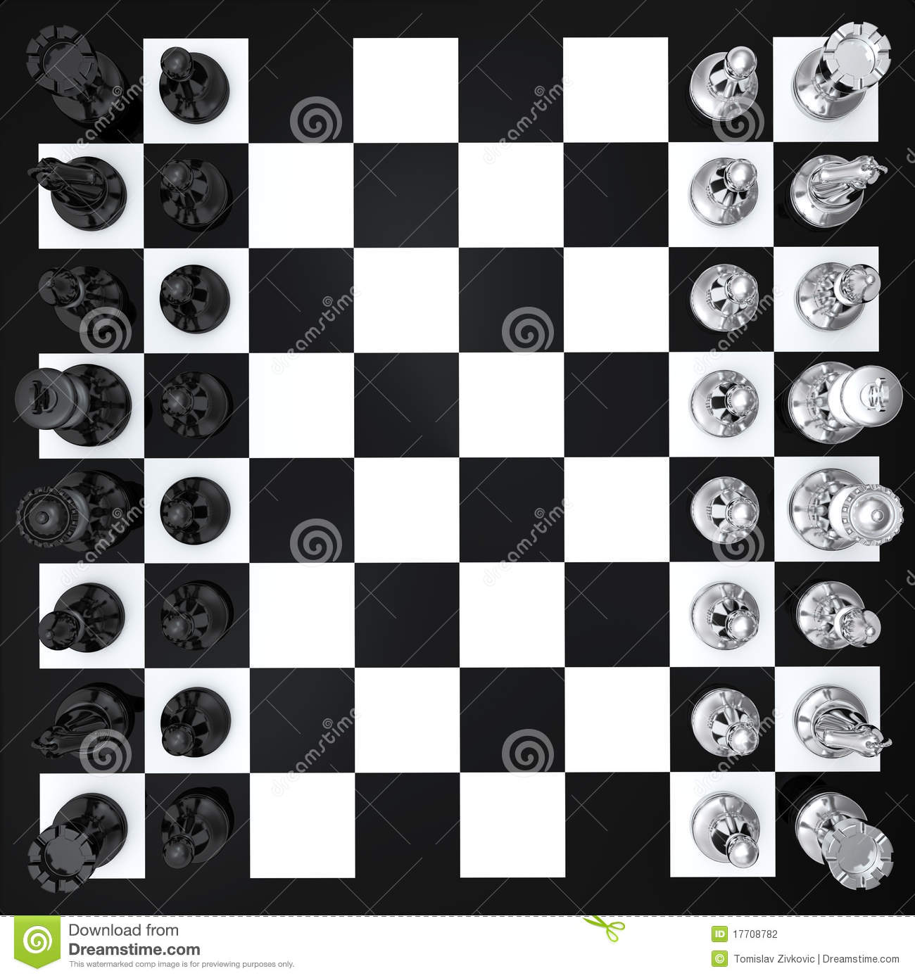 Chess Top View Stock Photography Image 17708782