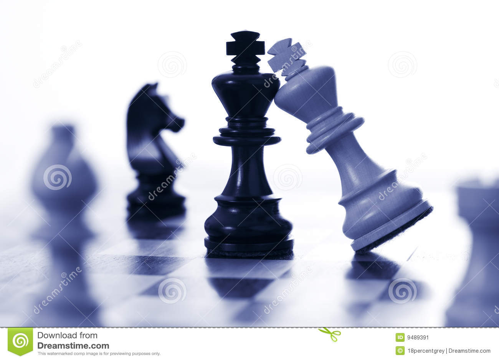 Chess white king attacks black king