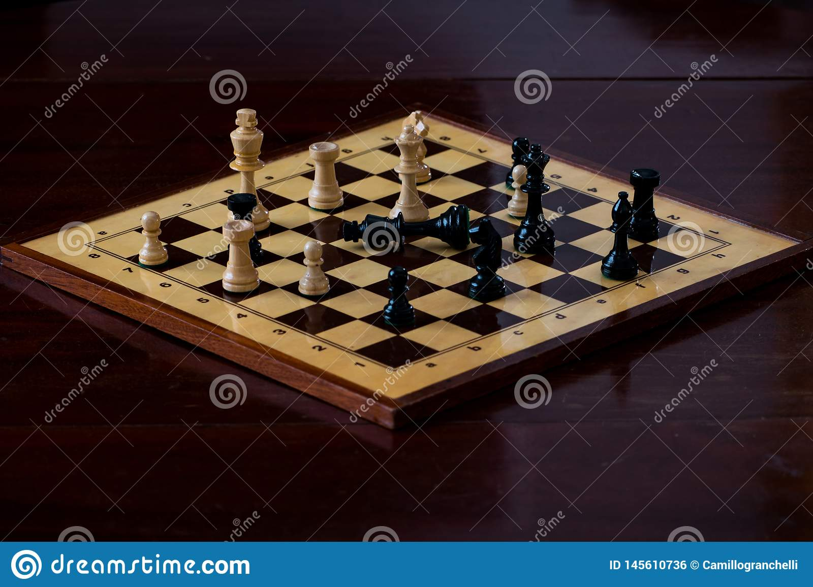 Chessboard with check mate