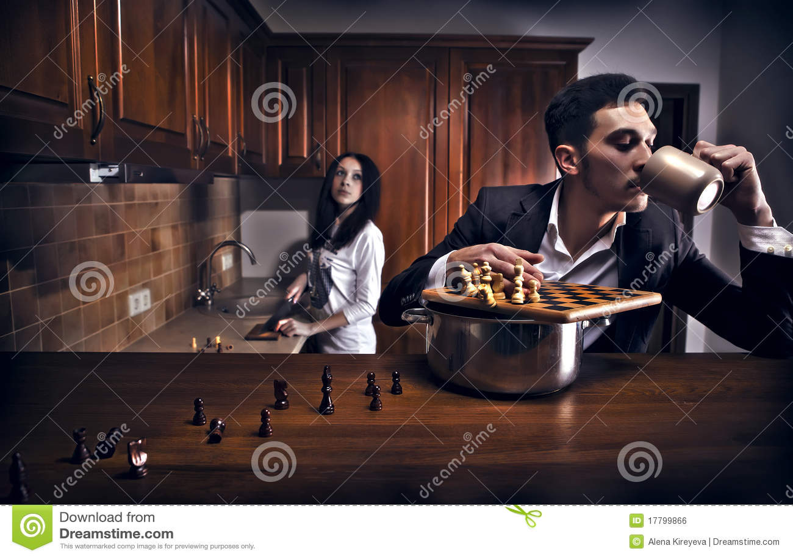 Chessplayer. Foto conceptual.