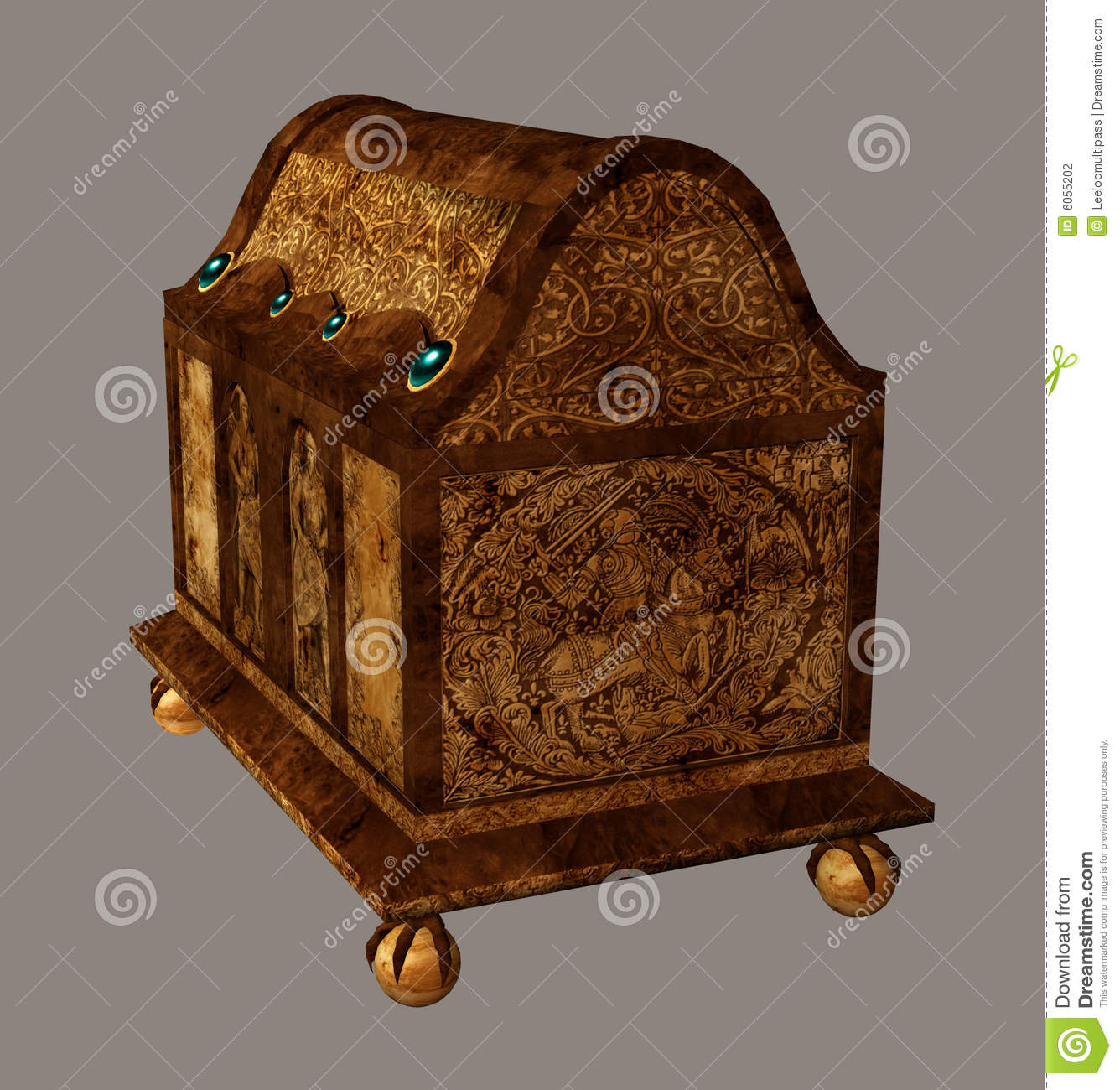 Download Chest stock illustration. Illustration of poser, ancient - 6055202