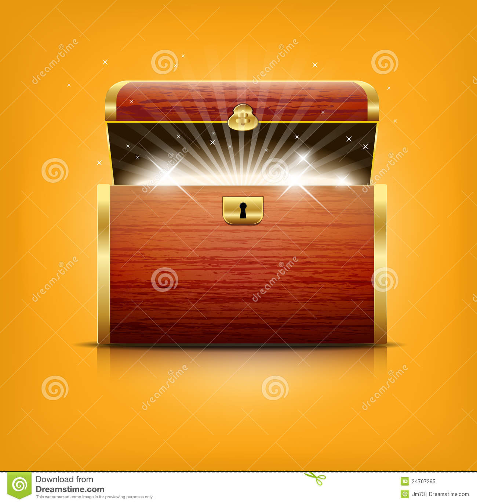 Diamond Box Xl >> Chest With Glowing Treasure Stock Vector - Illustration of object, treasure: 24707295