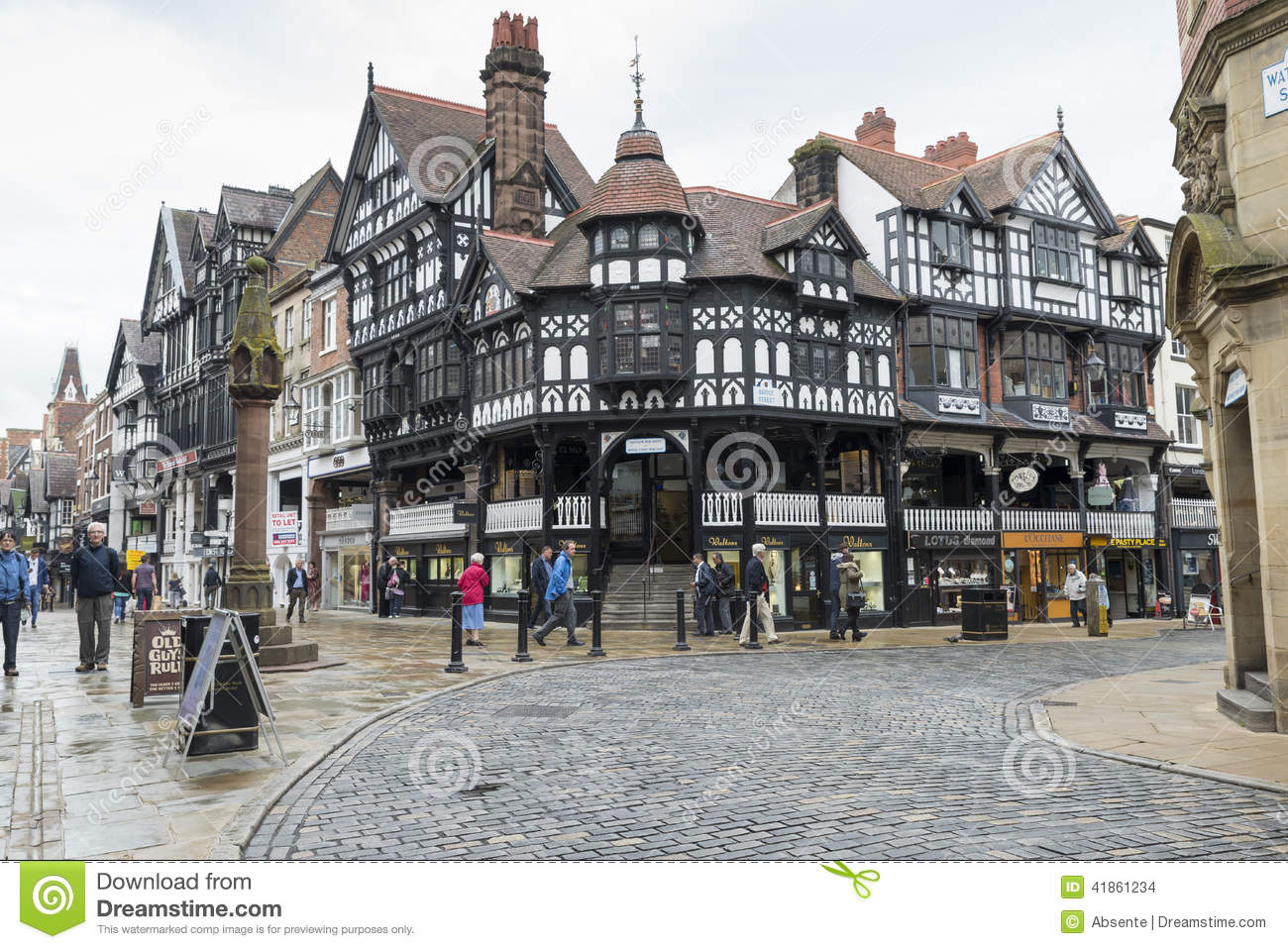 chester city centre editorial stock image image of people 41861234