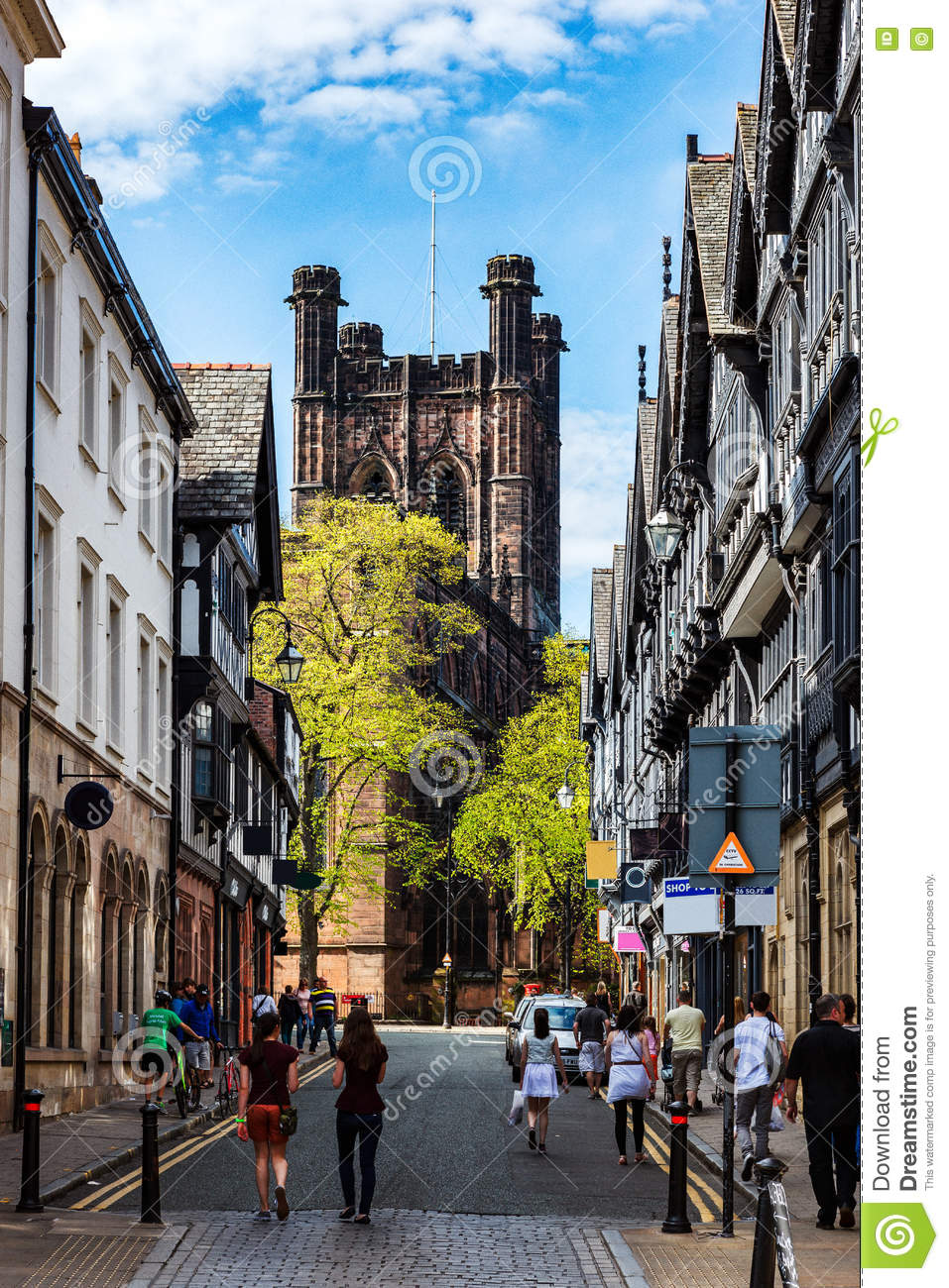 Chester stad, England