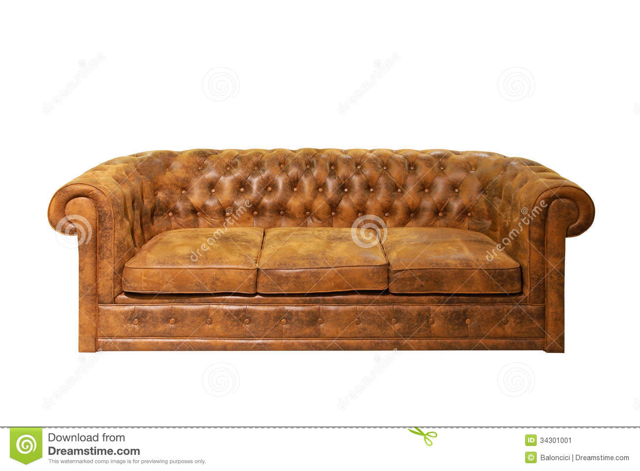 brown leather sofa isolated - photo #8