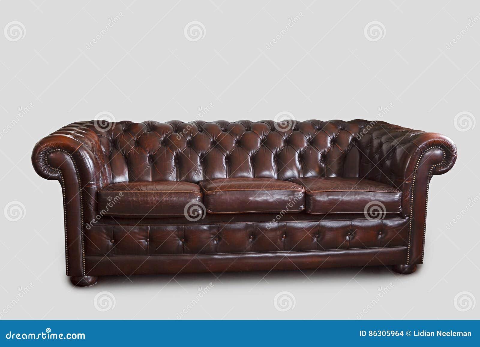 Chesterfield Sofa On White Stock Photo Image Of Retro 86305964