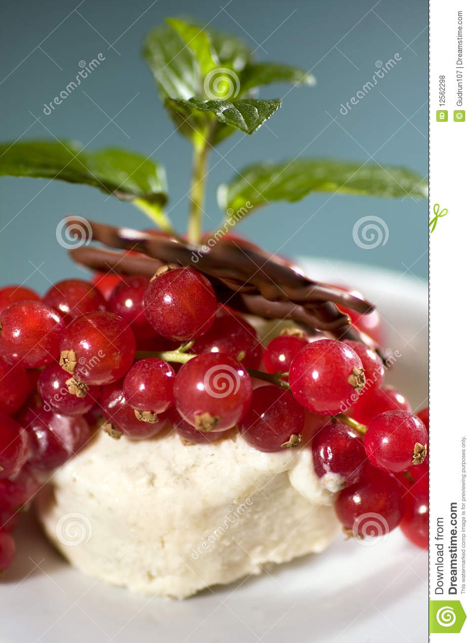 Chestnut Icecream With Redcurrants Royalty Free Stock Photos - Image ...