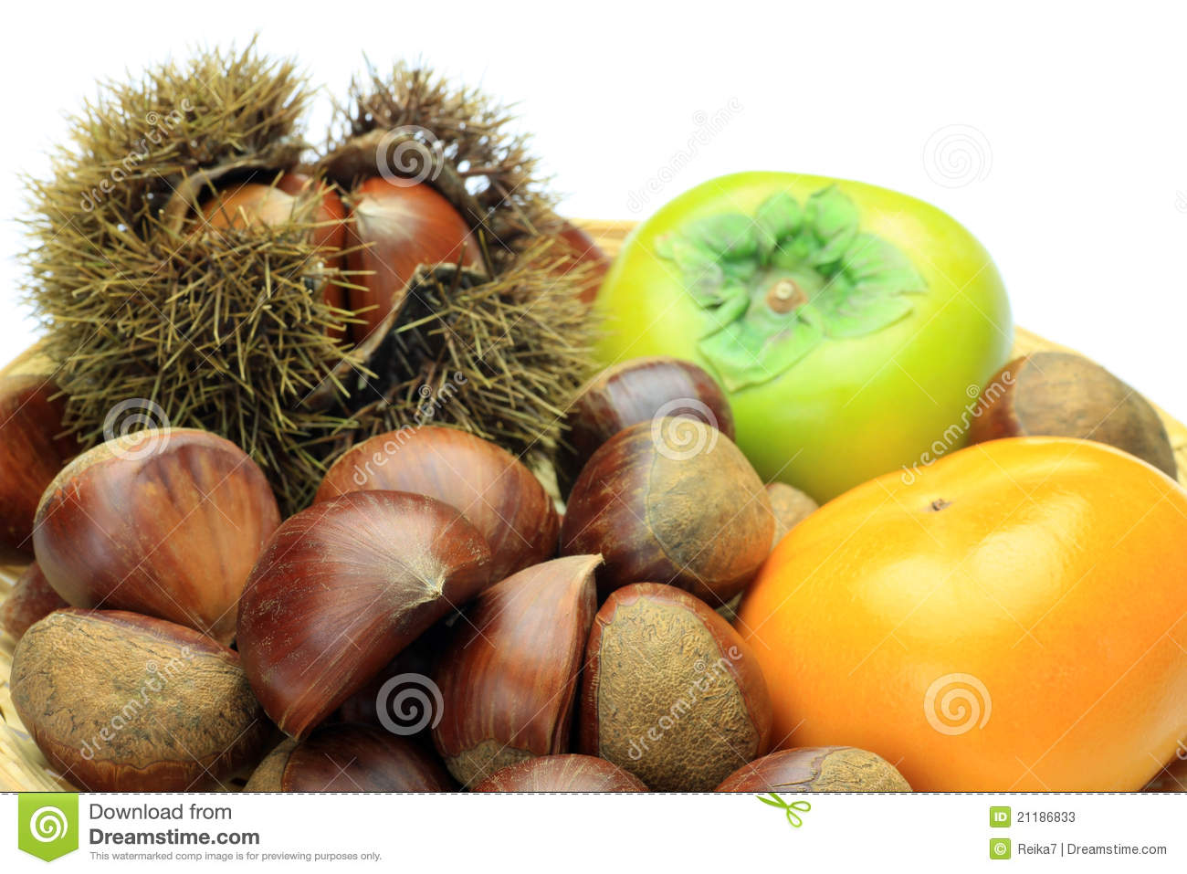 Chestnut and persimmon