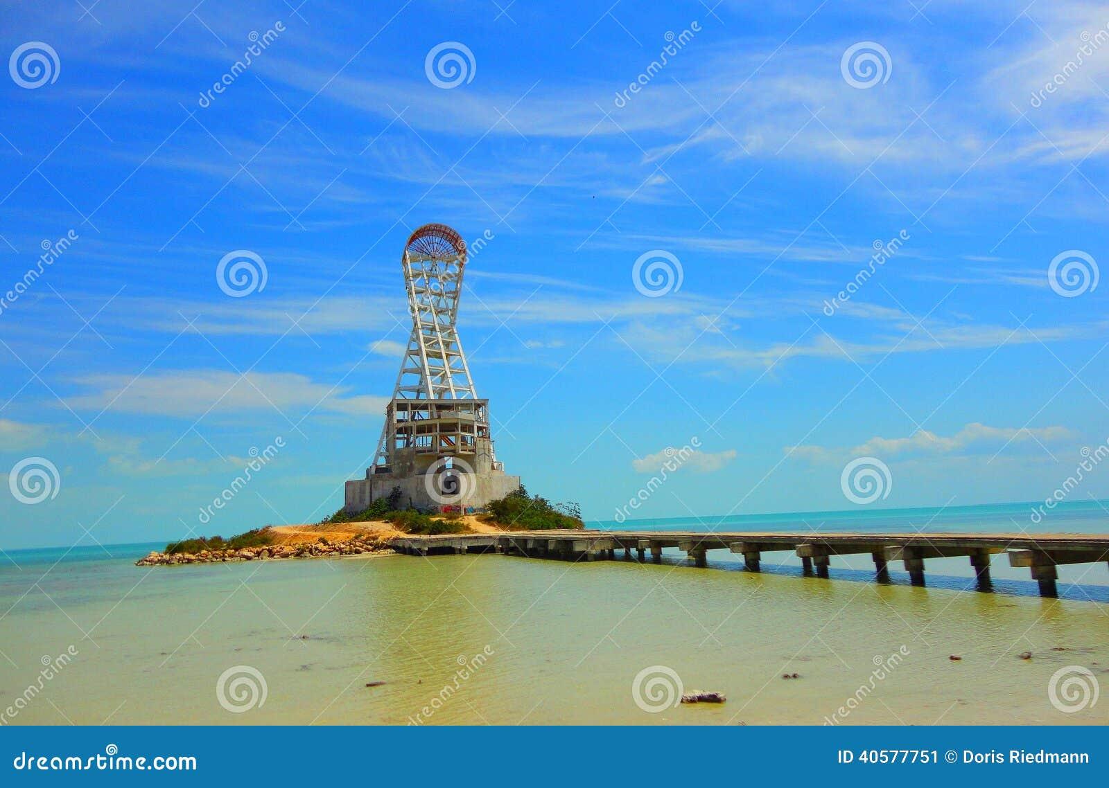 chetumal mexico beach summer lighthouse architecture