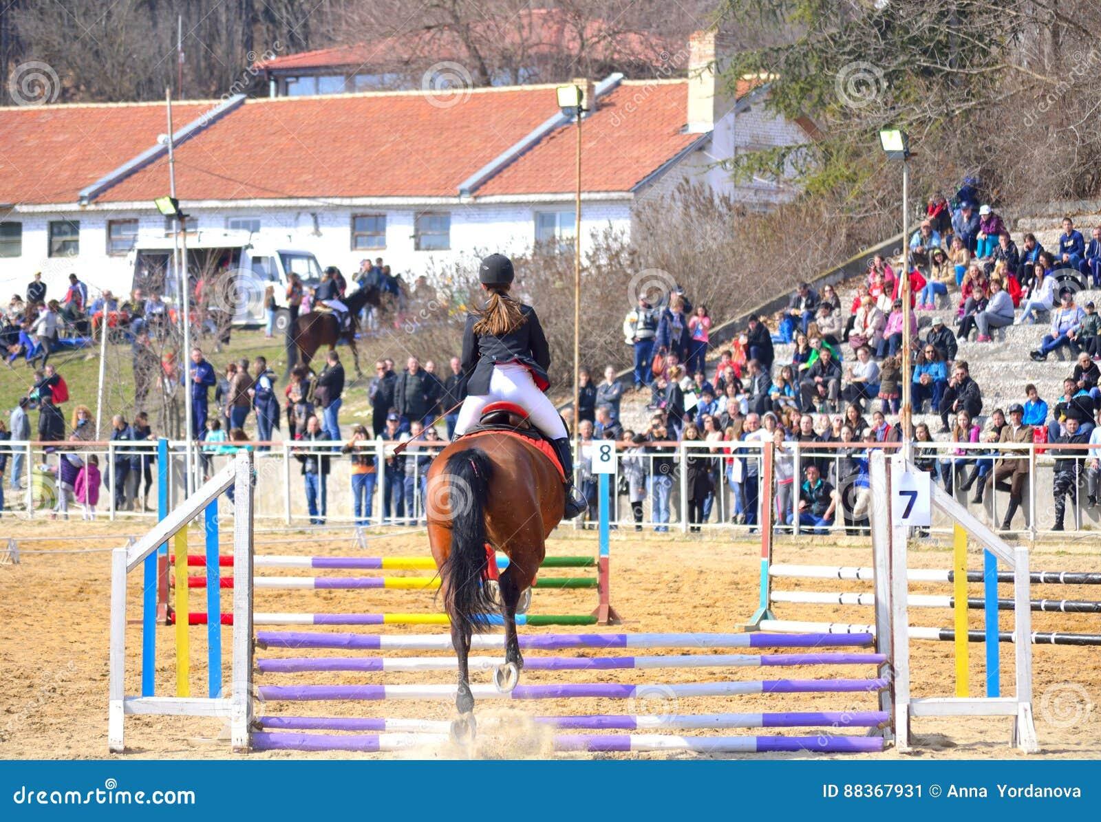 Cheval équestre De Concurrence Sautant Varna Bulgarie Photo ... 700483e28d7