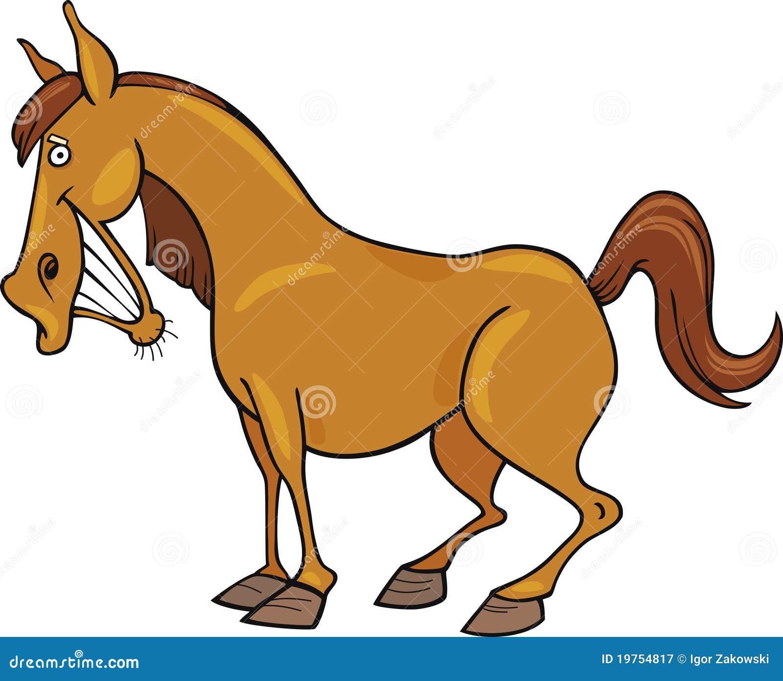 Cheval de dessin anim photographie stock libre de droits image 19754817 - Dessin anime indien cheval ...