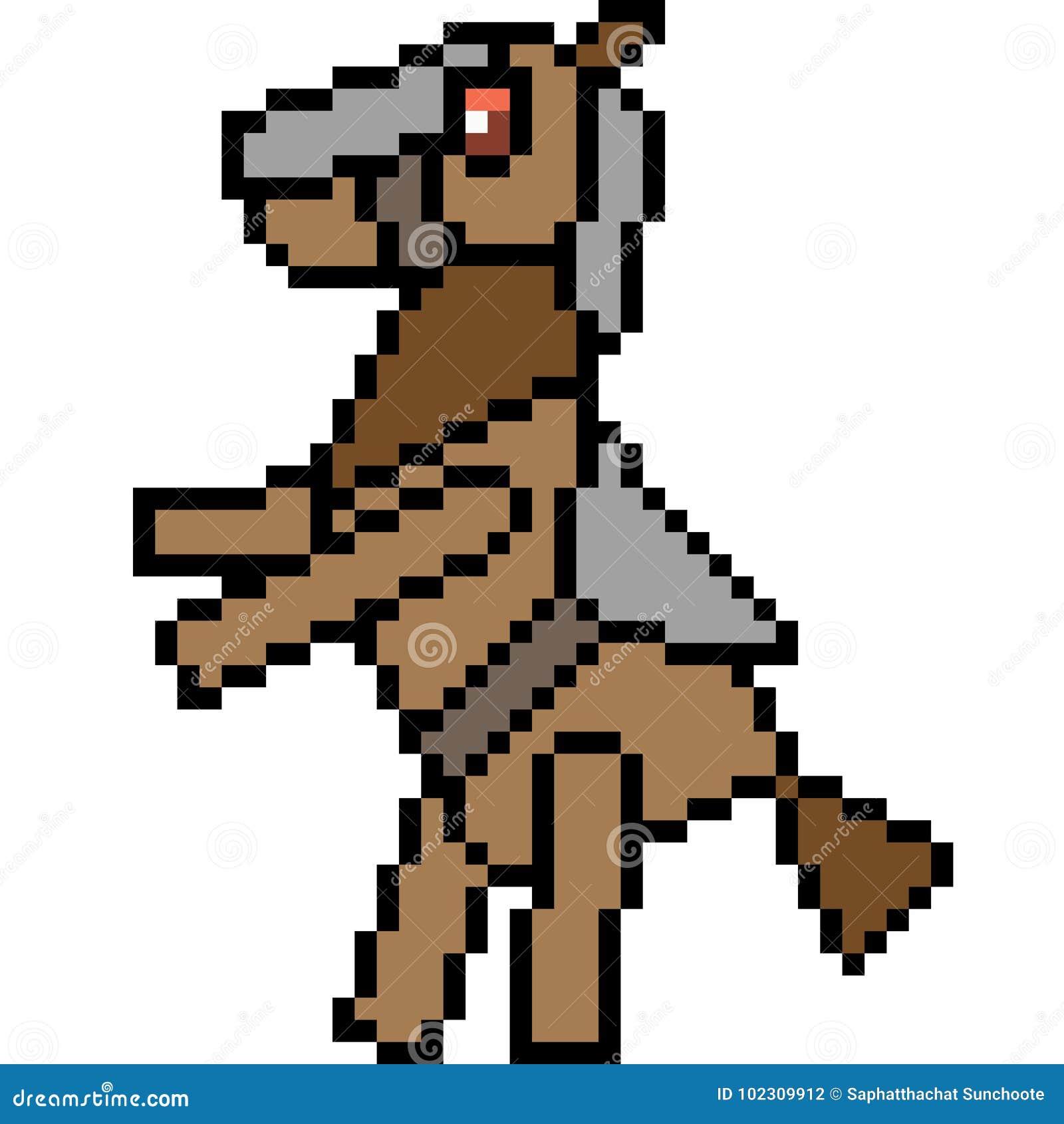 Cheval De Monstre Dart De Pixel De Vecteur Illustration De