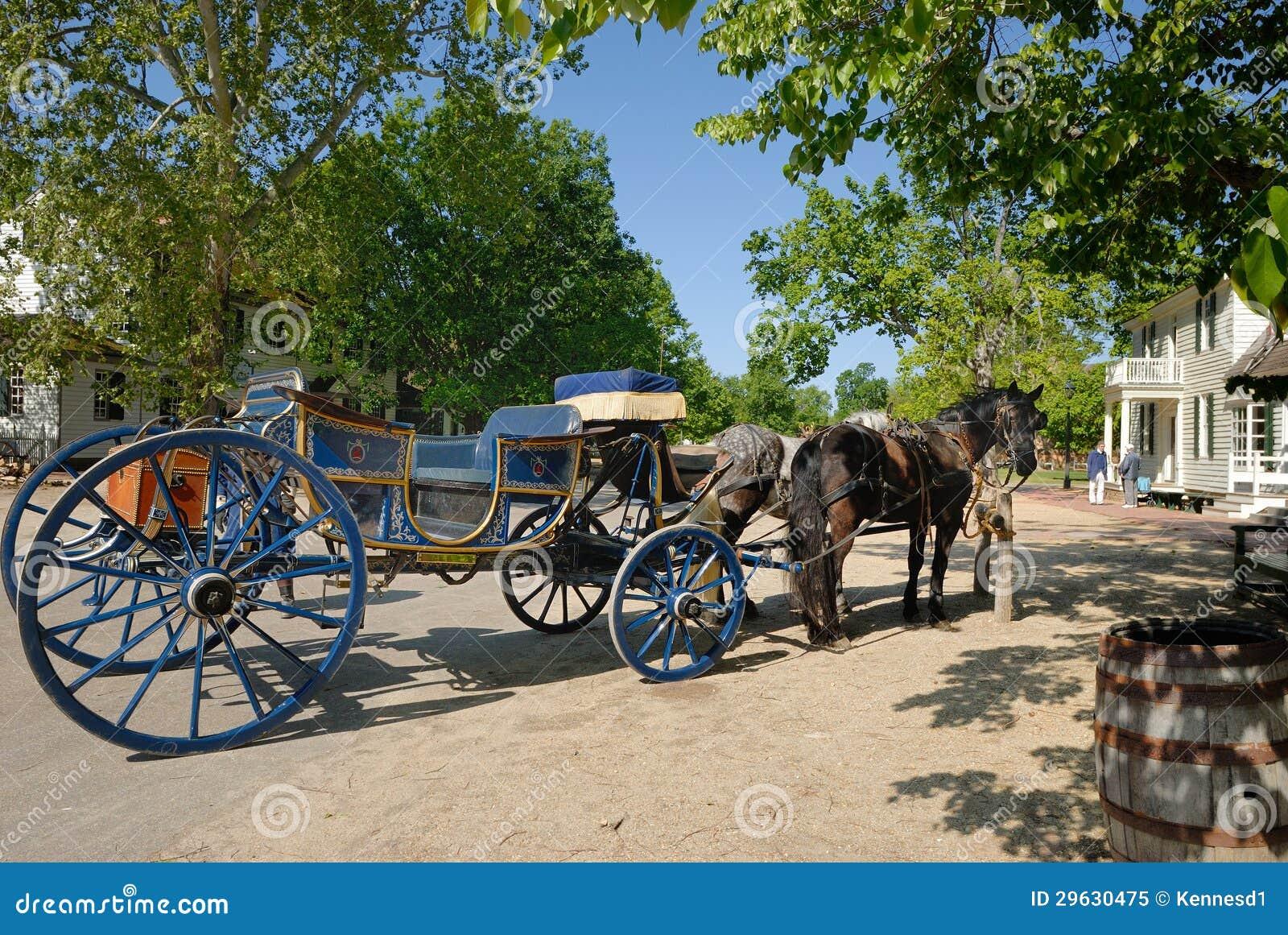 Cheval et chariot de Williamsburg