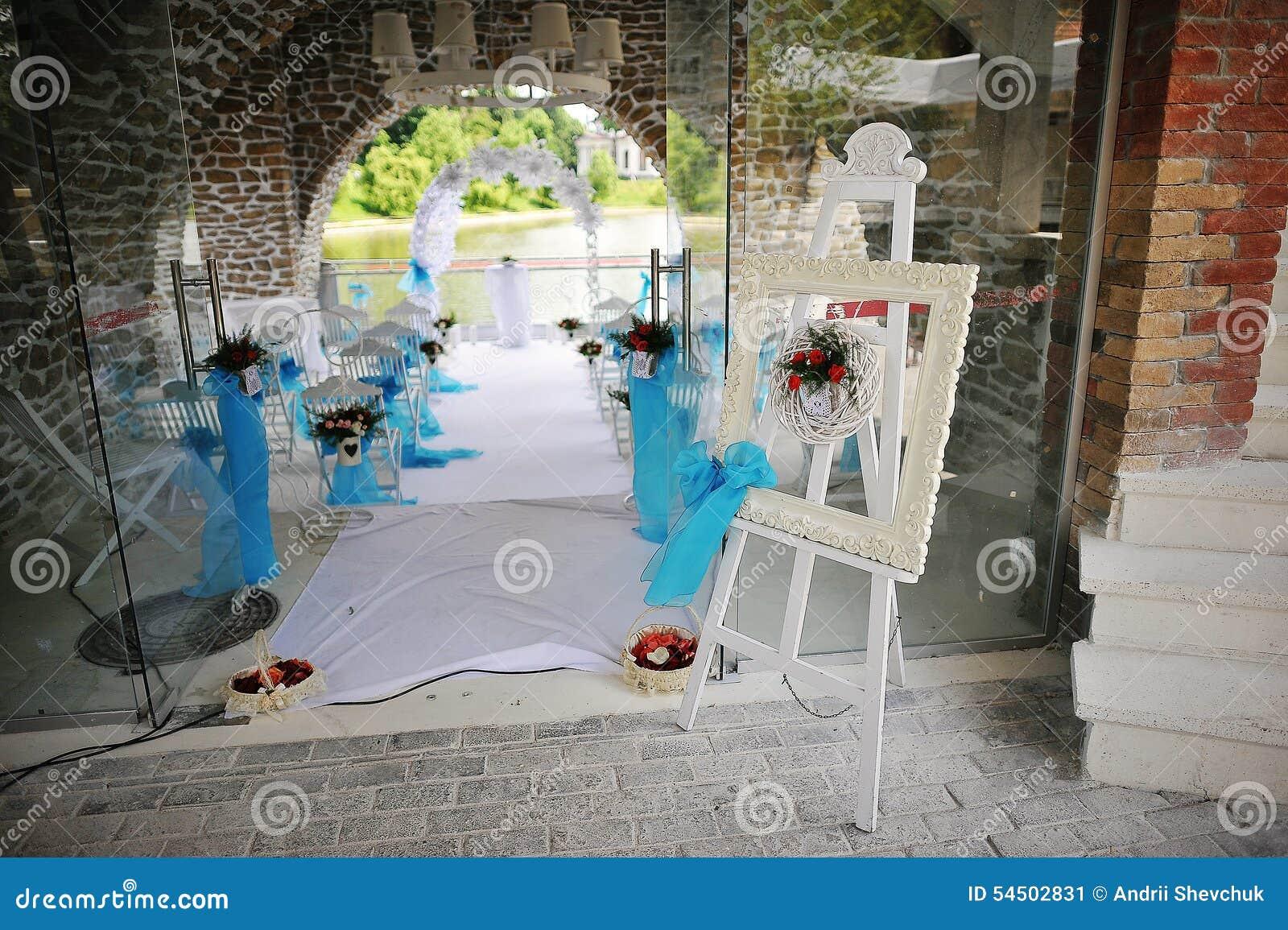 Chevalet de décoration de mariage