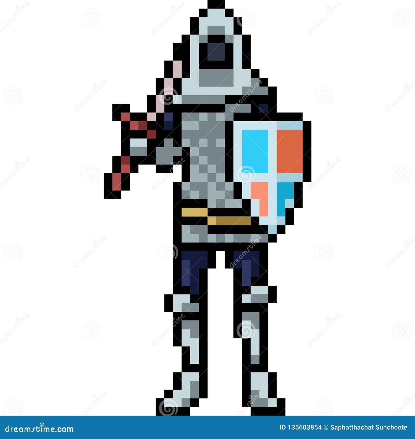 Chevalier Dart De Pixel De Vecteur Médiéval Illustration De
