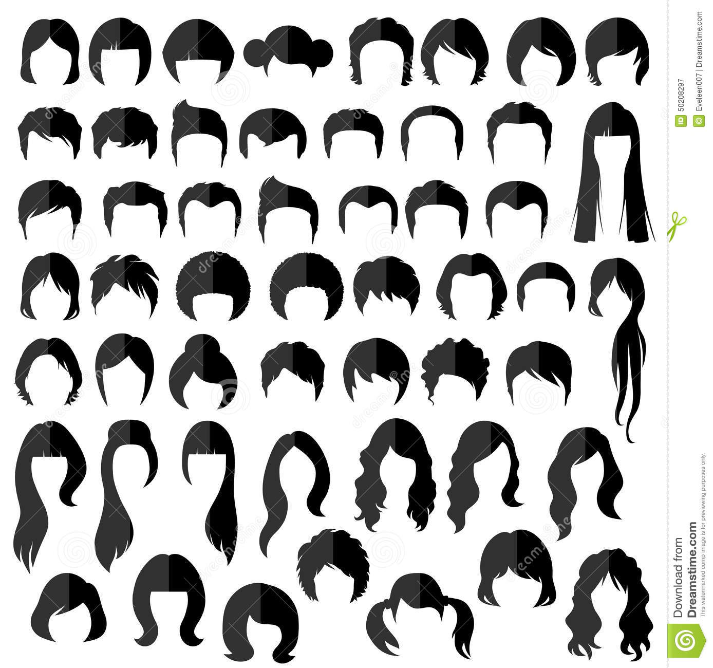 Cheveux Coiffure De Vecteur Illustration de Vecteur - Bun Hairstyles For Natural Hair