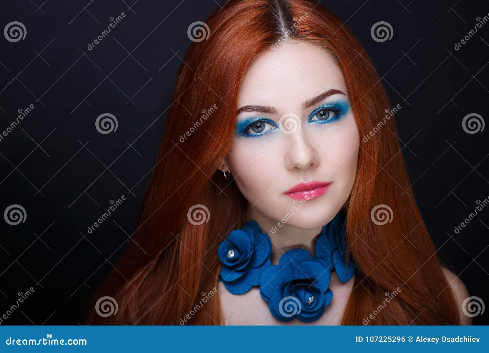 Cheveux d orange de femme