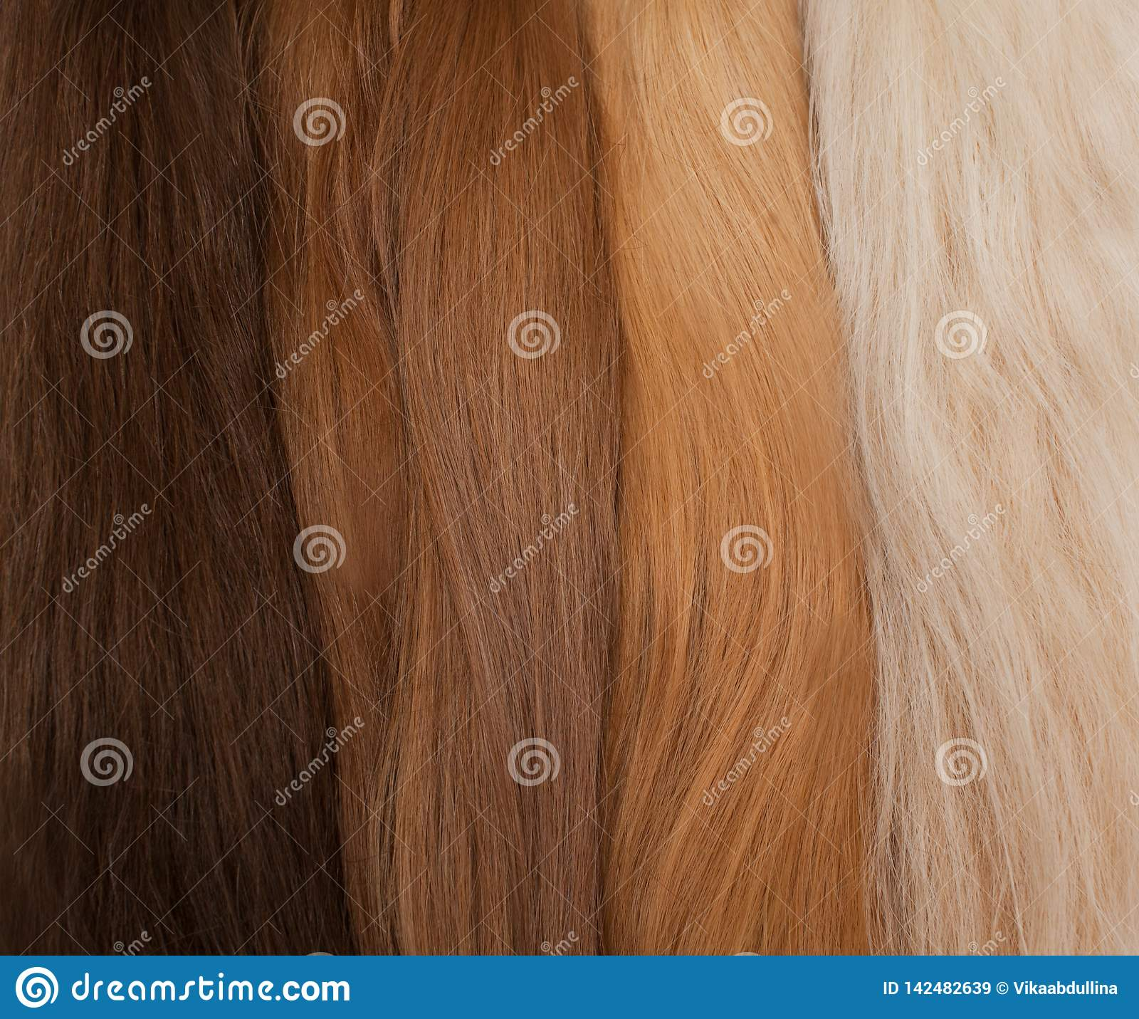 Cheveux naturels pour des prolongements Couleurs diff?rentes de noir ? la blonde
